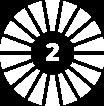 Number 2 in a circular design pattern