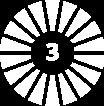 Number 3 in a circular design pattern